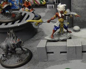 Relic Knights miniatures including Noh as seen at the GAMA Trade Show