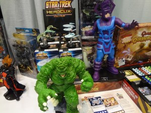 An assortment of Wizkids merchandise including the previously-released Galactus and possibly the Abomination.