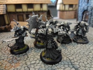 Undead warrior miniatures for Warmachine, the Bane Thralls