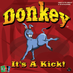 Kicking gress donkey on the social game cover for Donkey It's a Kick