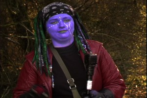 Girl with blue skin and odd headwrap from Monster Camp portraying a Sea Elf