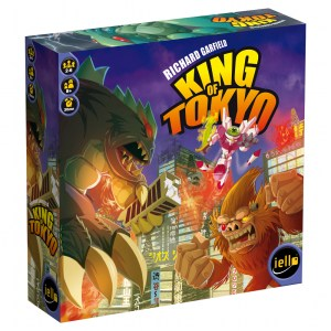 Kaiju monsters battle over metropolitan Tokyo on the cover of King of Tokyo