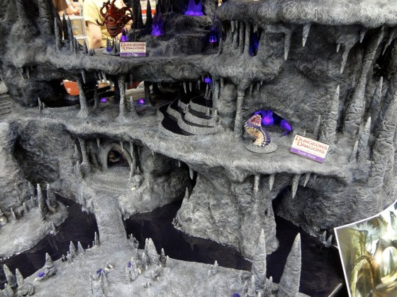 Miniature underground cavern for the Underdark in 28mm at the Gale Force 9 Booth at Gen Con