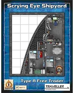 Package cover art for starship map for Traveller spaceship