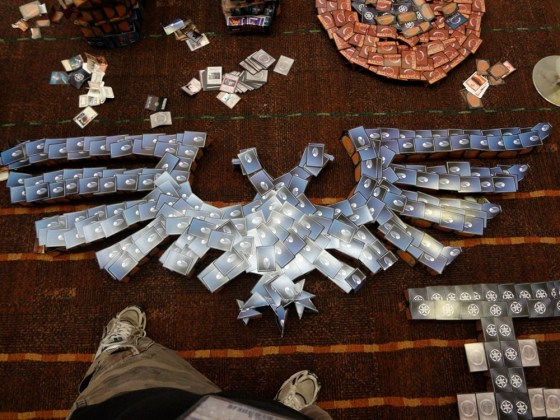 Games Workshop trademark Double-Headed Aquila made of cards at 2012 Gen Con