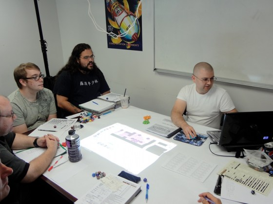 Pathfinder Society Players and GM Use MapTool Software to Represent Characters at Vegas Games Day