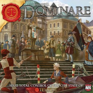 European city state on cover of AEG board game Dominare