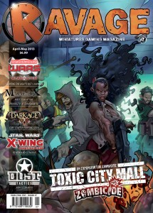 Cover of Ravage Issue 7 Advertising Zombicide Toxic City Mall