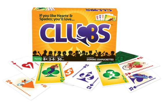 Light strategy card game Clubs marketing artwork with box cover from North Star Games