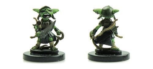 Little goblin Warchanter miniature from Pathfinder Battles We Be Goblins Too