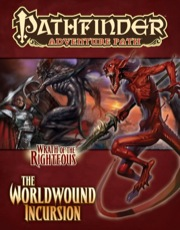 Demonic beings on cover of Pathfinder AP Wrath of the Righteous adventure