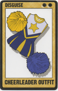 Cheerleader Uniform card art from Exile Game Studio's Deadfellas Zombie Mobster Card Game