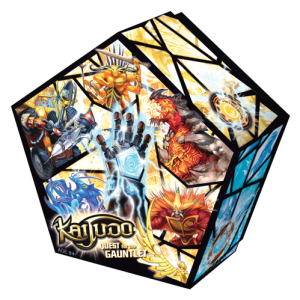 Pentagonal box design for Kaijudo Collector's Set of Quest for the Gauntlet