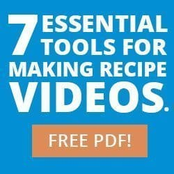 Tools for Making Food Videos from Food Blogger Pro