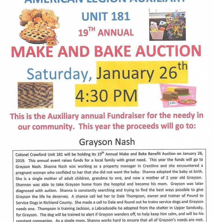 Bake Sale Flyer - Crawford County Now