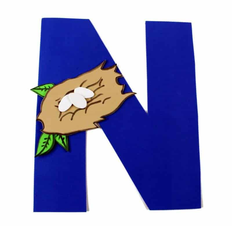 Letter N Craft With Printable \u2013 N is For Nest \u2013 Letter of the Week