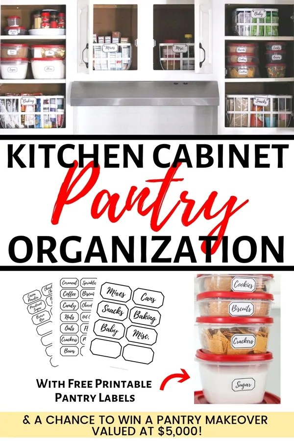 9 Steps to Clean  Organize Your Pantry + Free Printable Pantry Labels