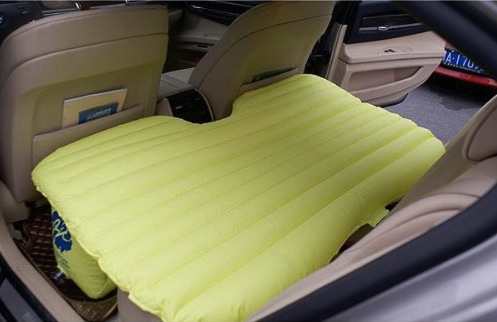 Inflatable Back Seat Car Bed Craziest Gadgets