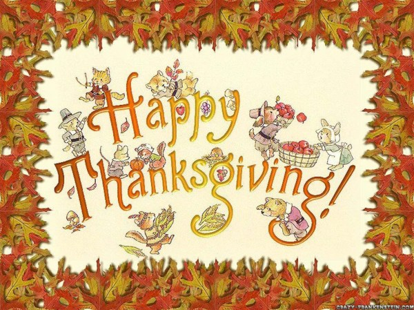 Wallpaper Happy Thanksgiving card. 1024 x 768.Thanksgiving Day 123 Free Greeting Cards Love