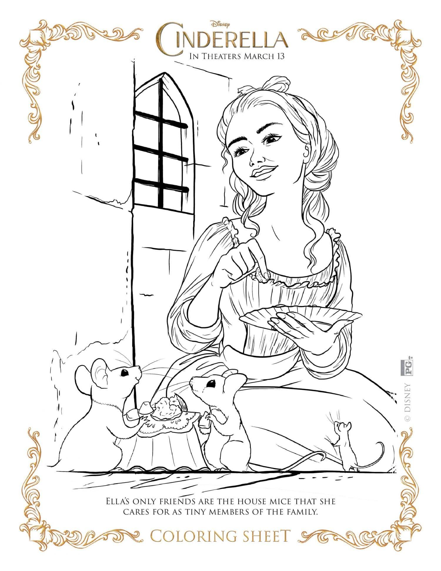 Cinderella coloring page cinderella coloring page