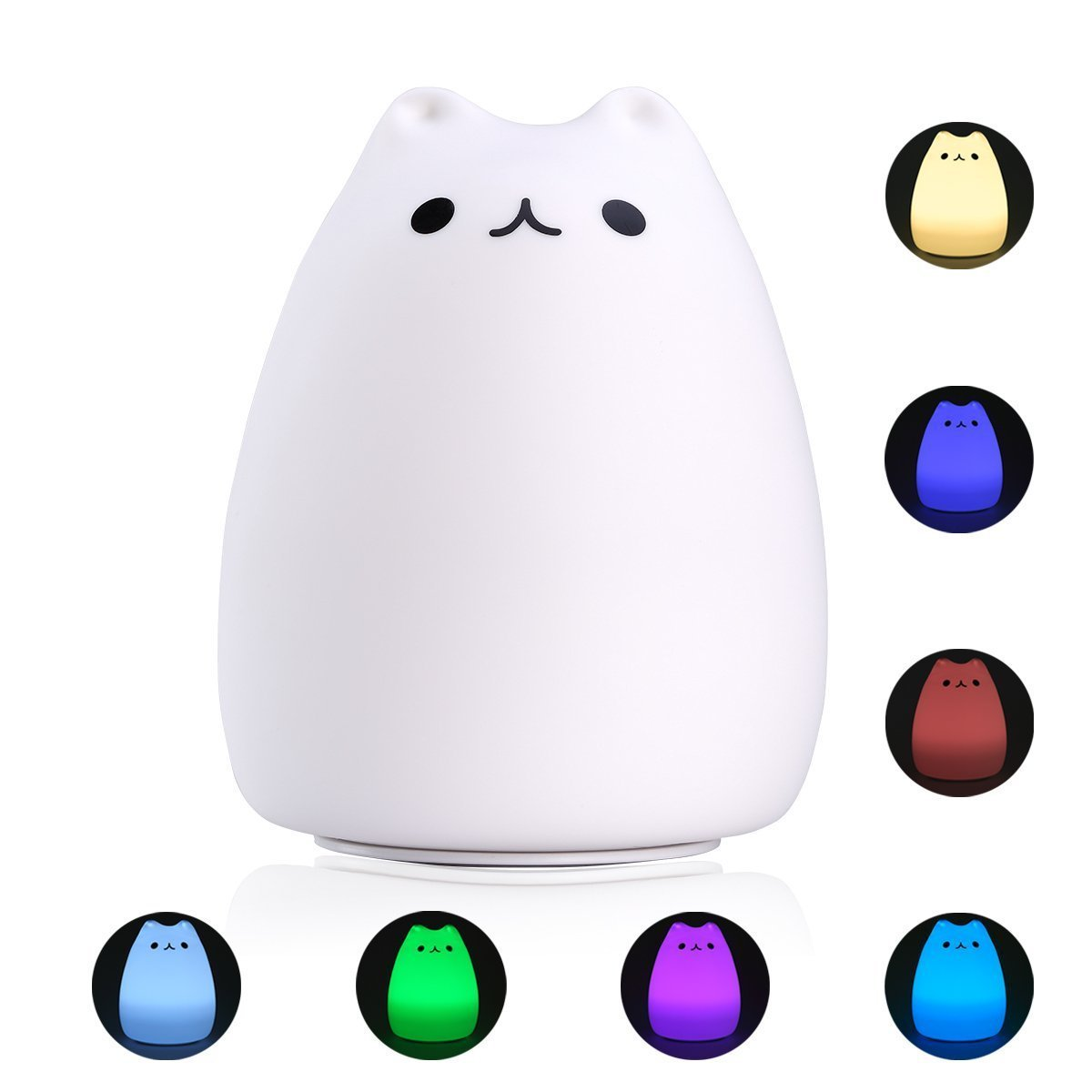 Cat Night Lights S Andg Night Light Cute Smile Cat Silicon Led Desk Lamp With