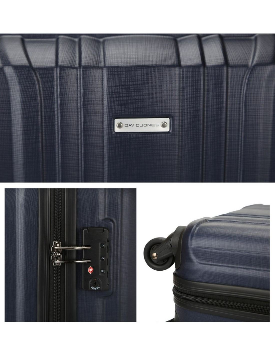 Valise Cabine 55x40x20 David Jones Valise Cabine Rigide Abs Bagage Trolley 4 Roues Tsa
