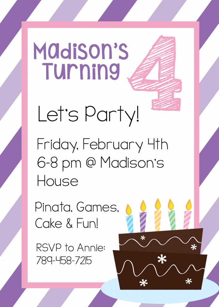 Free Printable Birthday Invitation Templates - invitation birthday template