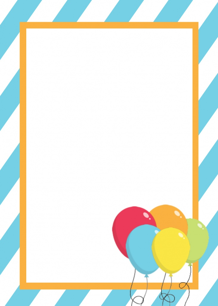 Free Printable Birthday Invitation Templates - invitation blank template