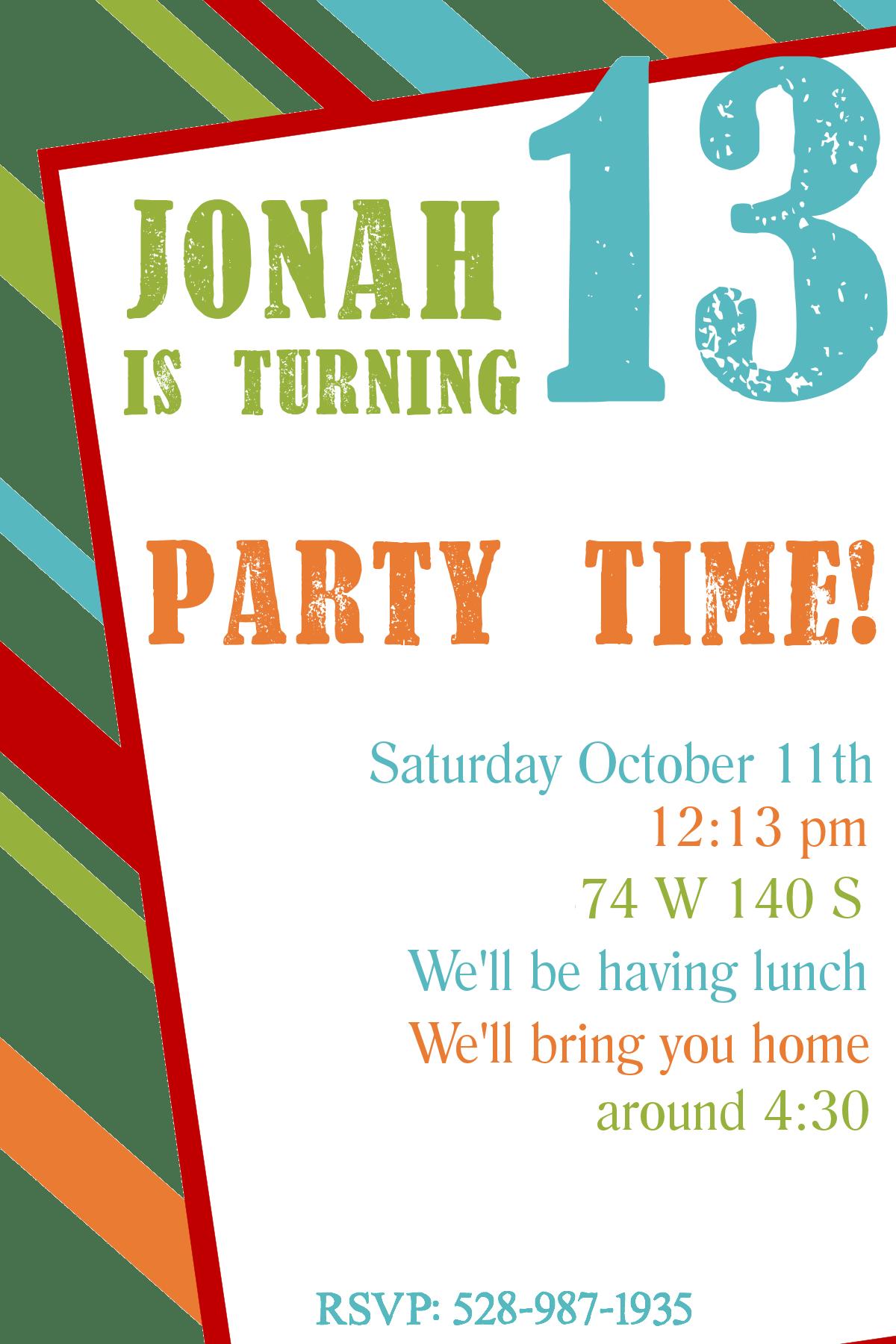 free birthday party invitations templates