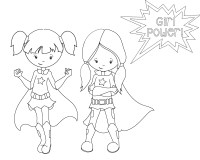 Superhero Coloring Pages - Crazy Little Projects