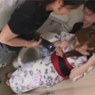 【鬼畜レイプ】お祭りに来た浴衣姿の女性をトイレへ拉致し、スタンガンで怯えさせてから強制中出し!