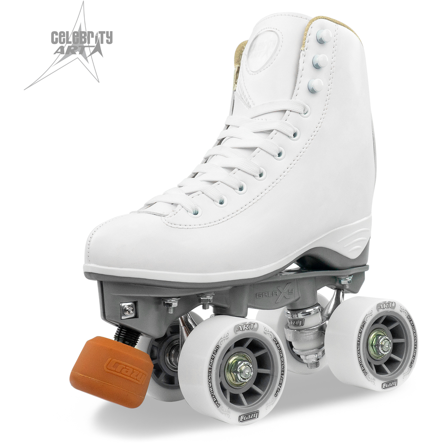 Roller Australia Celebrity Art White Roller Skates For Sale Crazy Skates Company