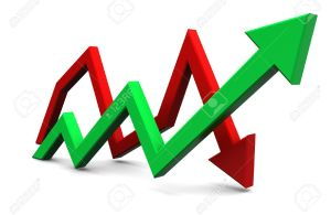 18095113-3d-illustration-of-business-graph-with-two-arrows-Stock-Illustration-stock