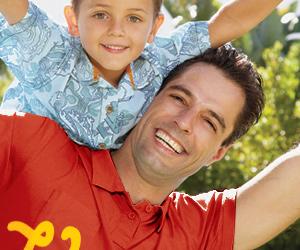 Рекламная кампания в прессе для семейных кредитных карт от банка «Руский Стандарт»