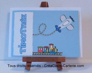 "Félicitations Naissance ""Jeux de garçon"" - Ref: MOD-005"