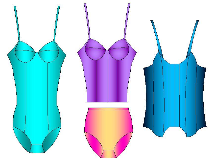 Tallaje de ropa intima de dama