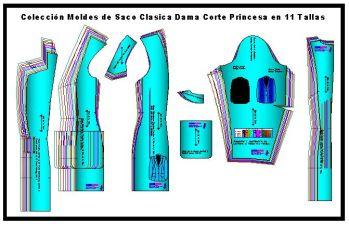 Plantillas de Saco Corte Princesa