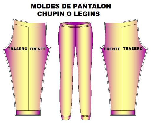 moldes pantalon chupin leggins dama