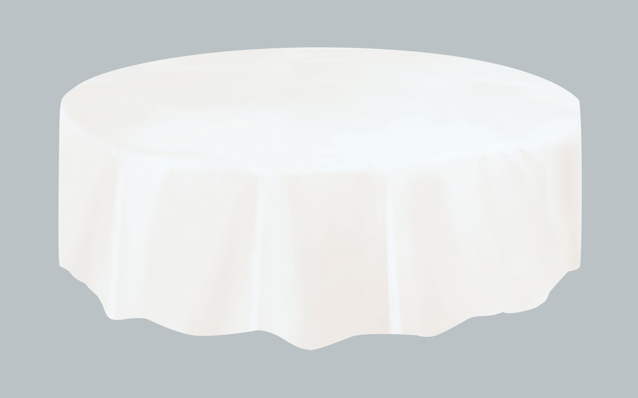 Nappe De Table Ronde Nappe Plastique De Table Ronde Blanche 213 Cm Unique Un 50021