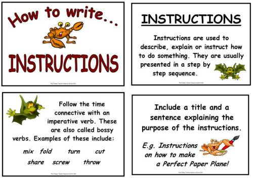 Writing Letters By Goofygoober Teaching Resources Tes Instructions Display Poster Pack