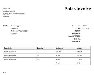 Free Proforma Invoice Templates 8 Examples Wordexcel Free Invoice Templates Free Online Invoice Generator