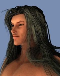 I've created a long hair black hair with Garibaldi.