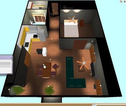 【Autodesk Maya 2014】マンションの一室を作る。5