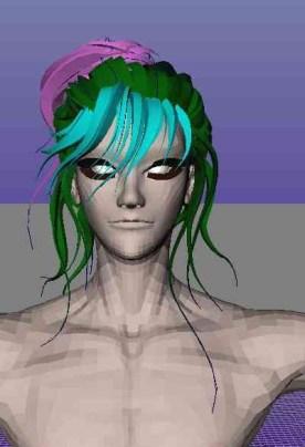和泉のup髪を作る,3Dで髪の毛を作成する,和泉守兼定の髪を作る,和泉守兼定を作る