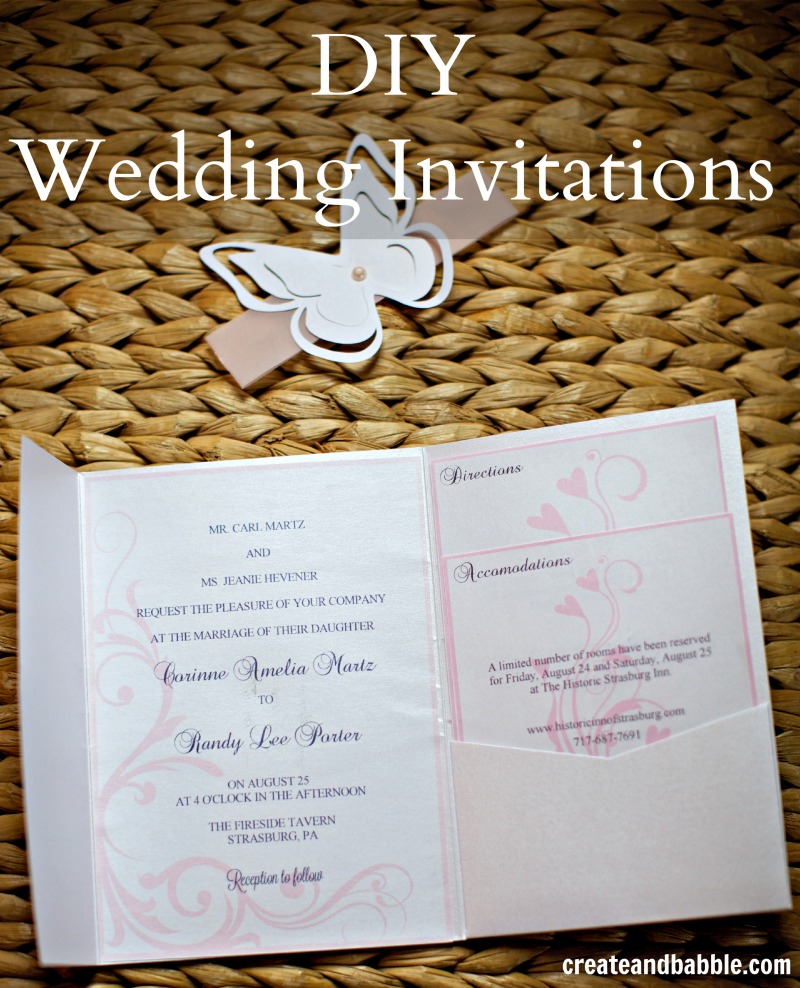 Diy Wedding Invitations With Photo Diy Wedding Invitations Silhouette Tutorial Create And Babble