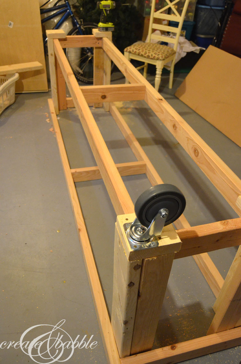 Diy Workbench With Wheels Diy Workbench Create And Babble