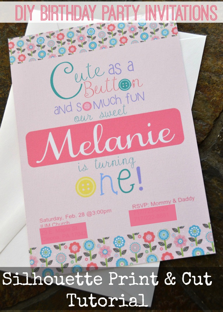 create and print birthday invitations