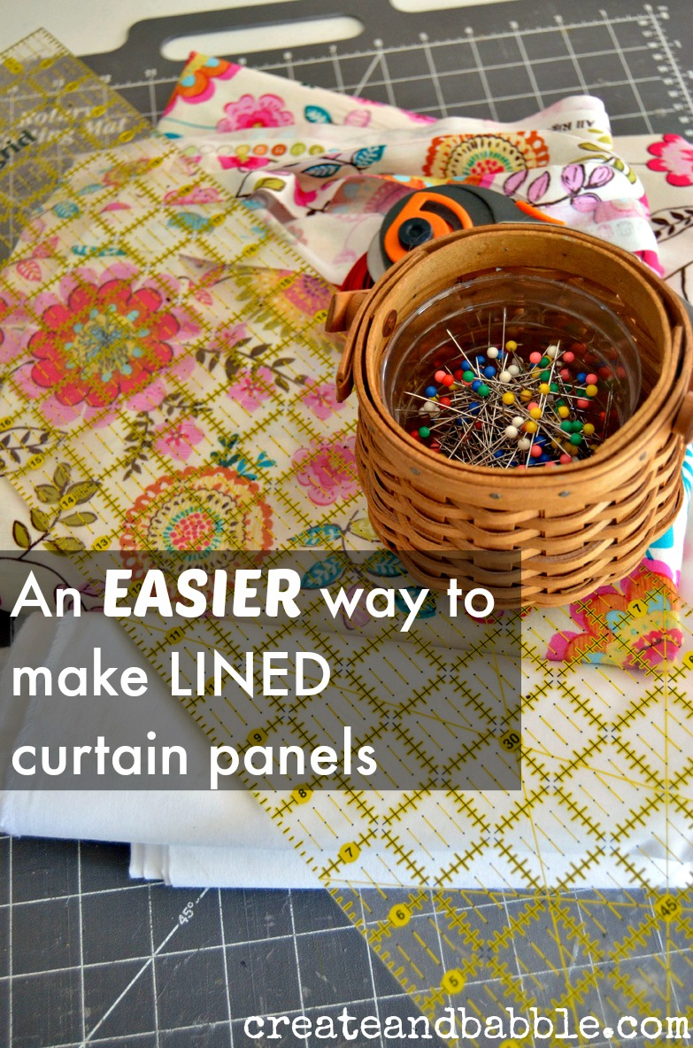 How To Make Lined Curtain Panels An Easy Way To Make Lined Curtains Create And Babble