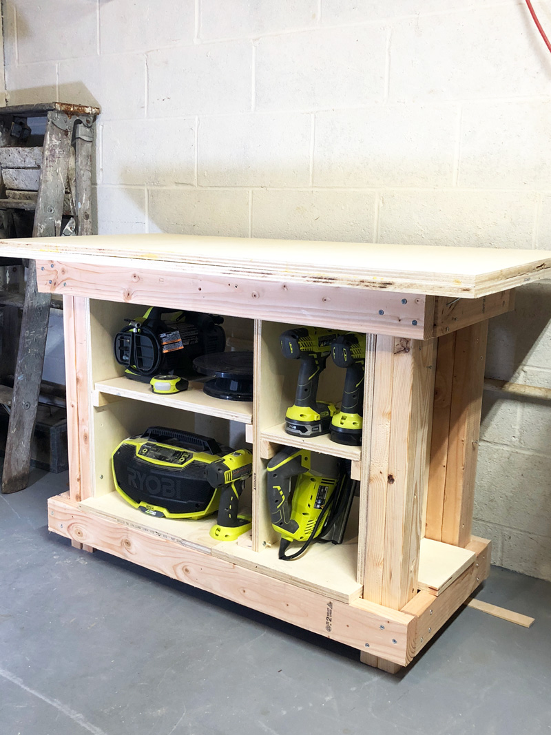 Diy Workbench With Wheels Simple Diy Workbench Create And Babble