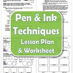 Pen and Ink Techniques Lesson plan and worksheet